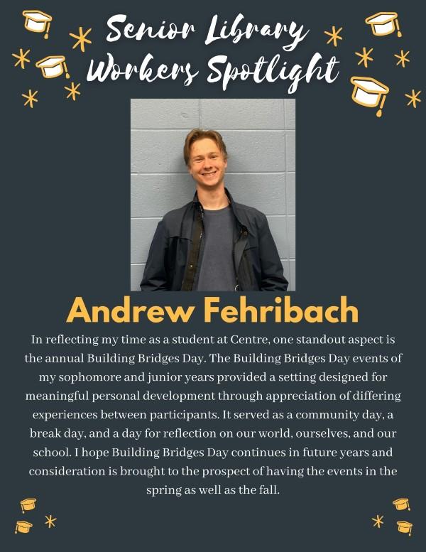 Senior spotlight: Andrew Fehribach