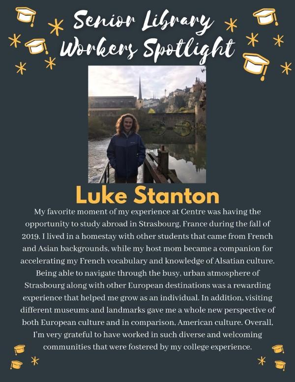 Senior spotlight: Luke Stanton