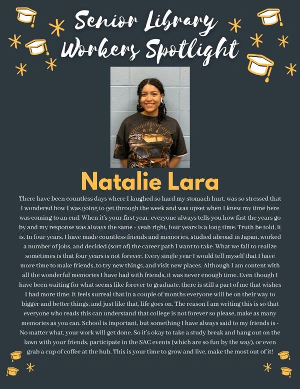 Senior spotlight: Natalie Lara