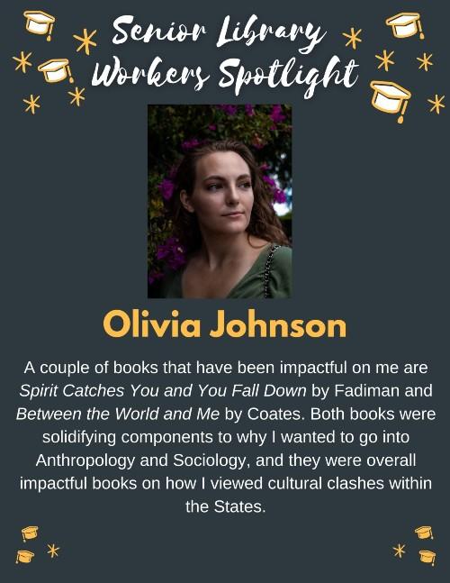 Senior book picks: Olivia Johnson