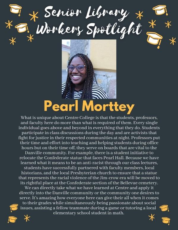 Senior spotlight: Pearl Morttey
