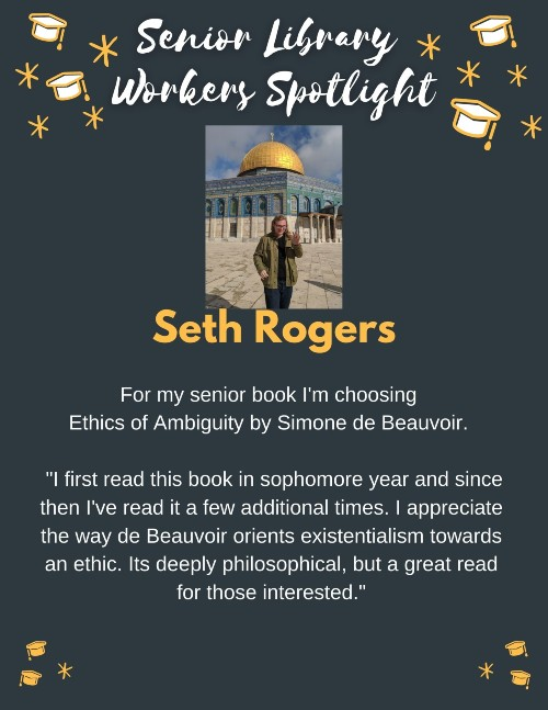 Senior book picks: Seth Rogers