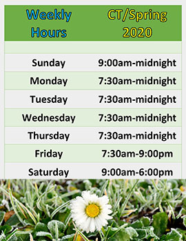 CentreTerm and spring hours
