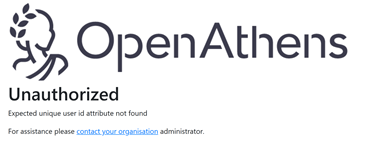 Open Athens Unauthorized