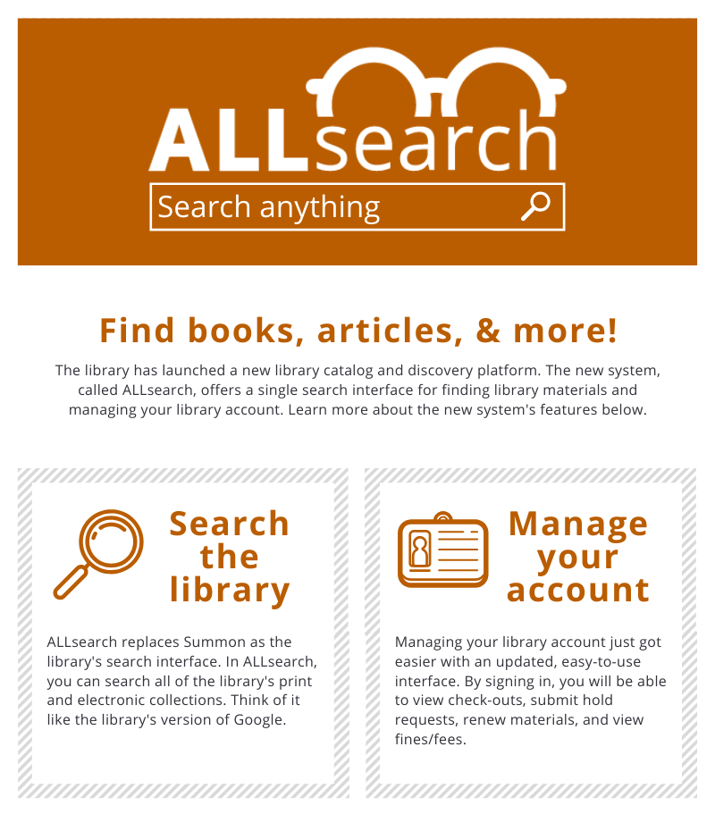 Thumbnail image of getting started in ALLsearch infographic guide