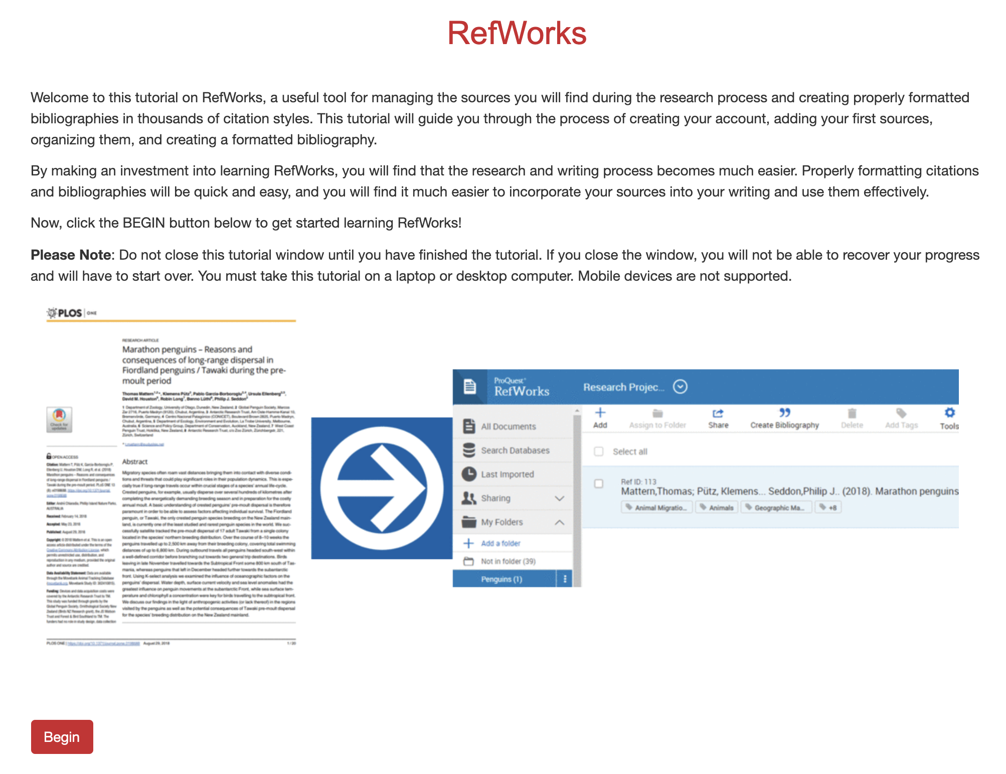 Learning to Use RefWorks