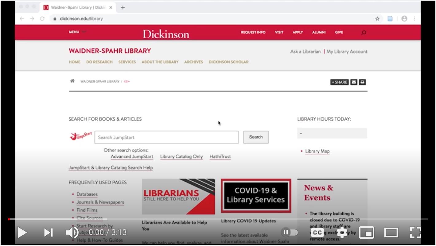 screenshot of the ebooks YouTube video