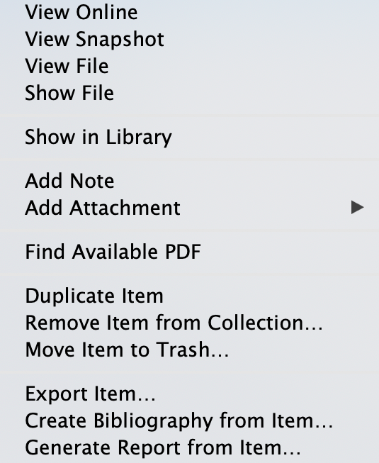 zotero attach file menu