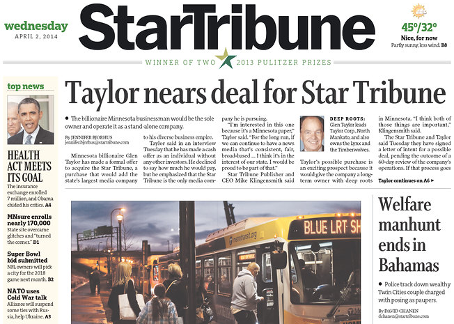 Star Tribune Newspaper