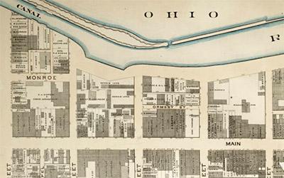 map 1 of 1876 Louisville atlas
