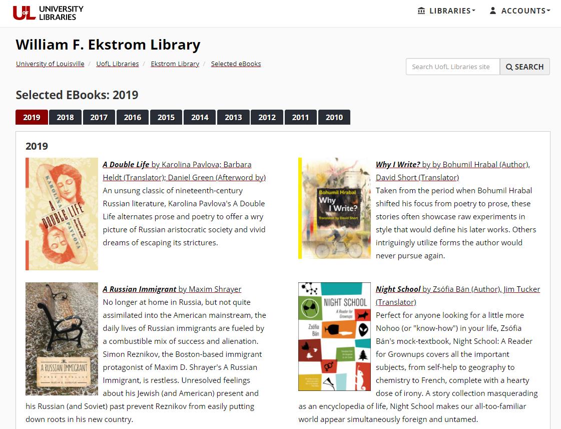 ebooks homepage