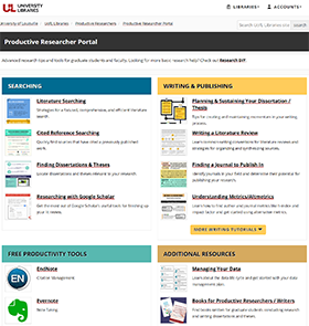 Productive Researcher homepage
