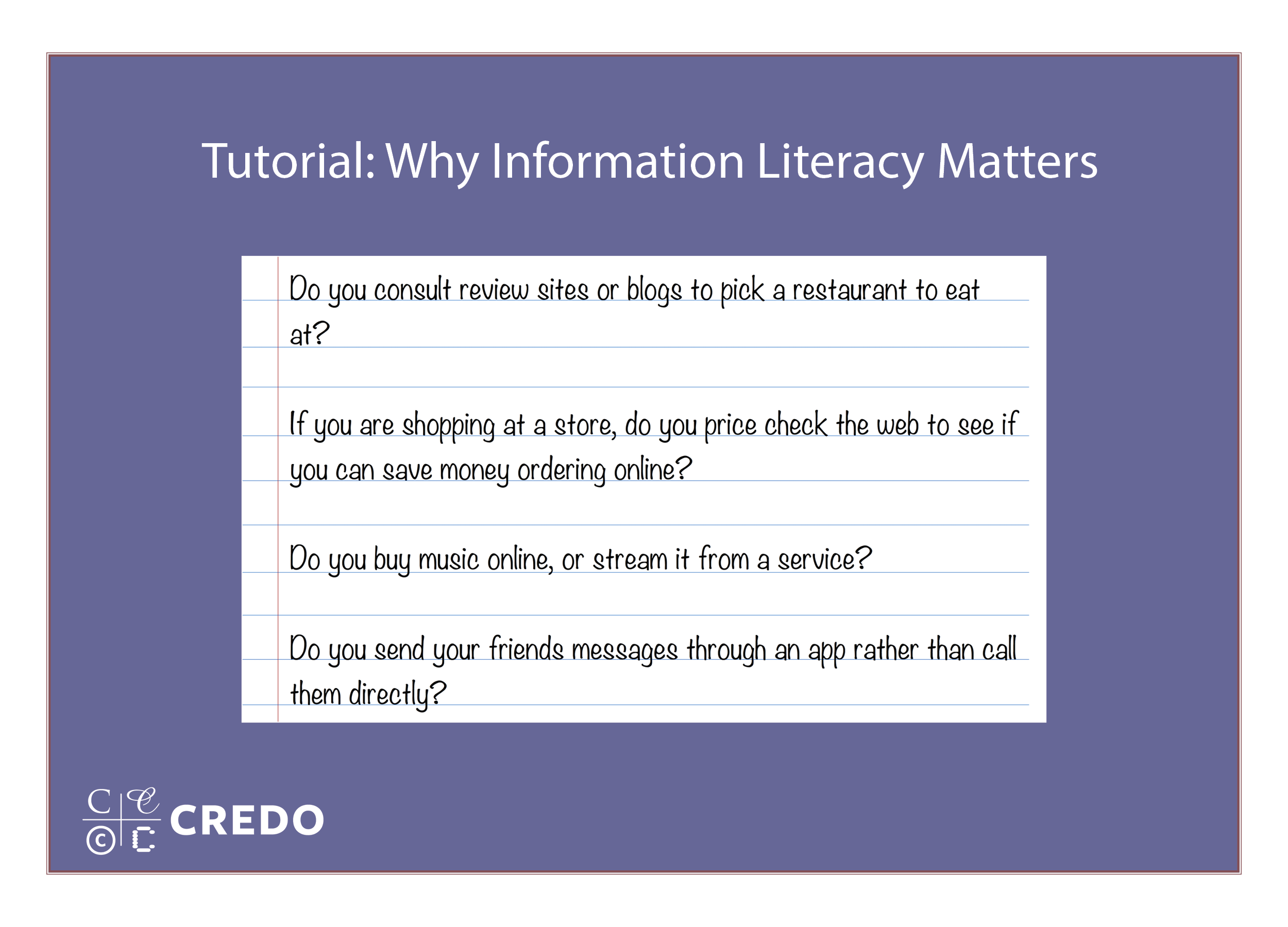 Why Information Literacy Matters