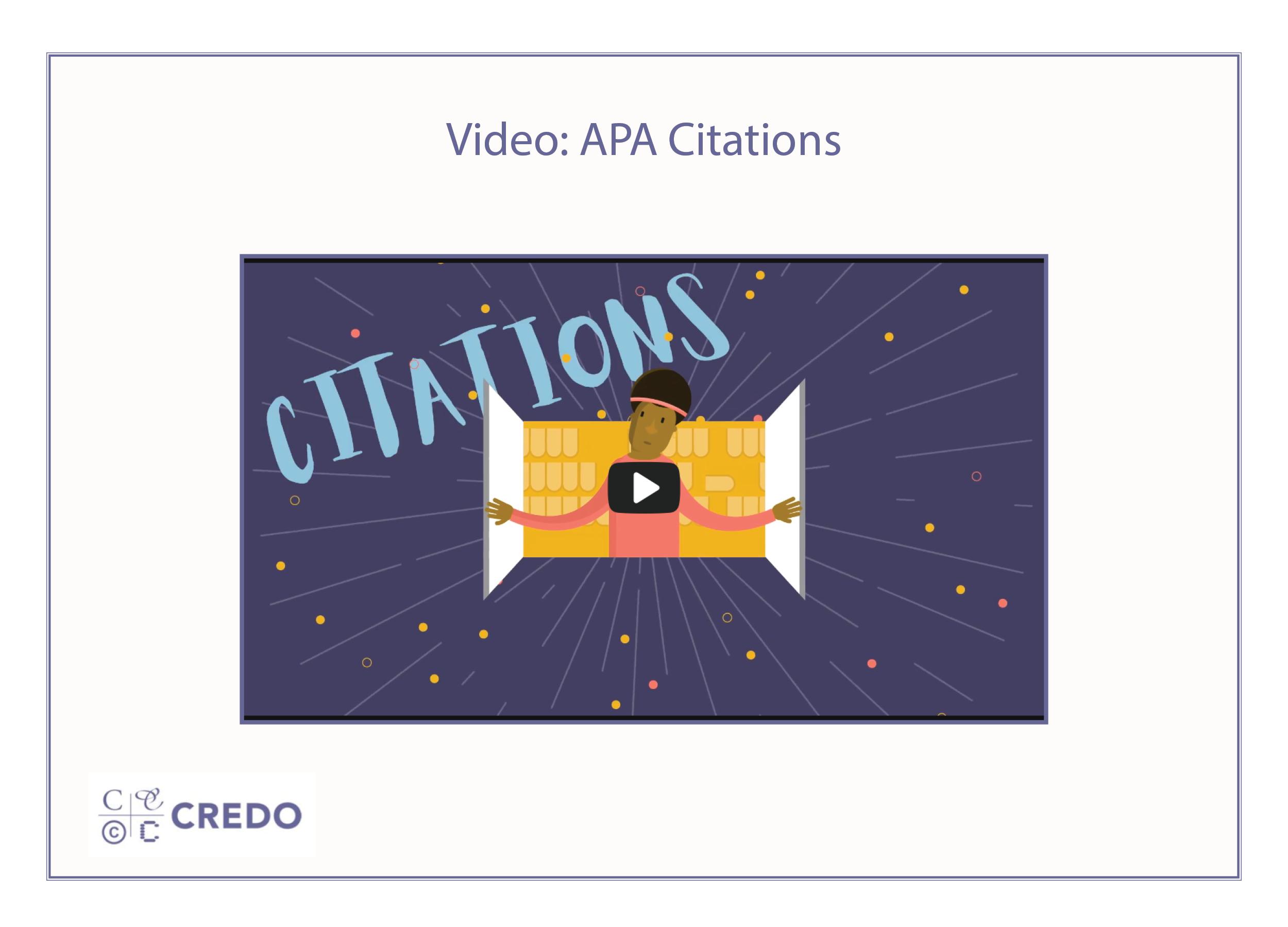 APA Citations Video
