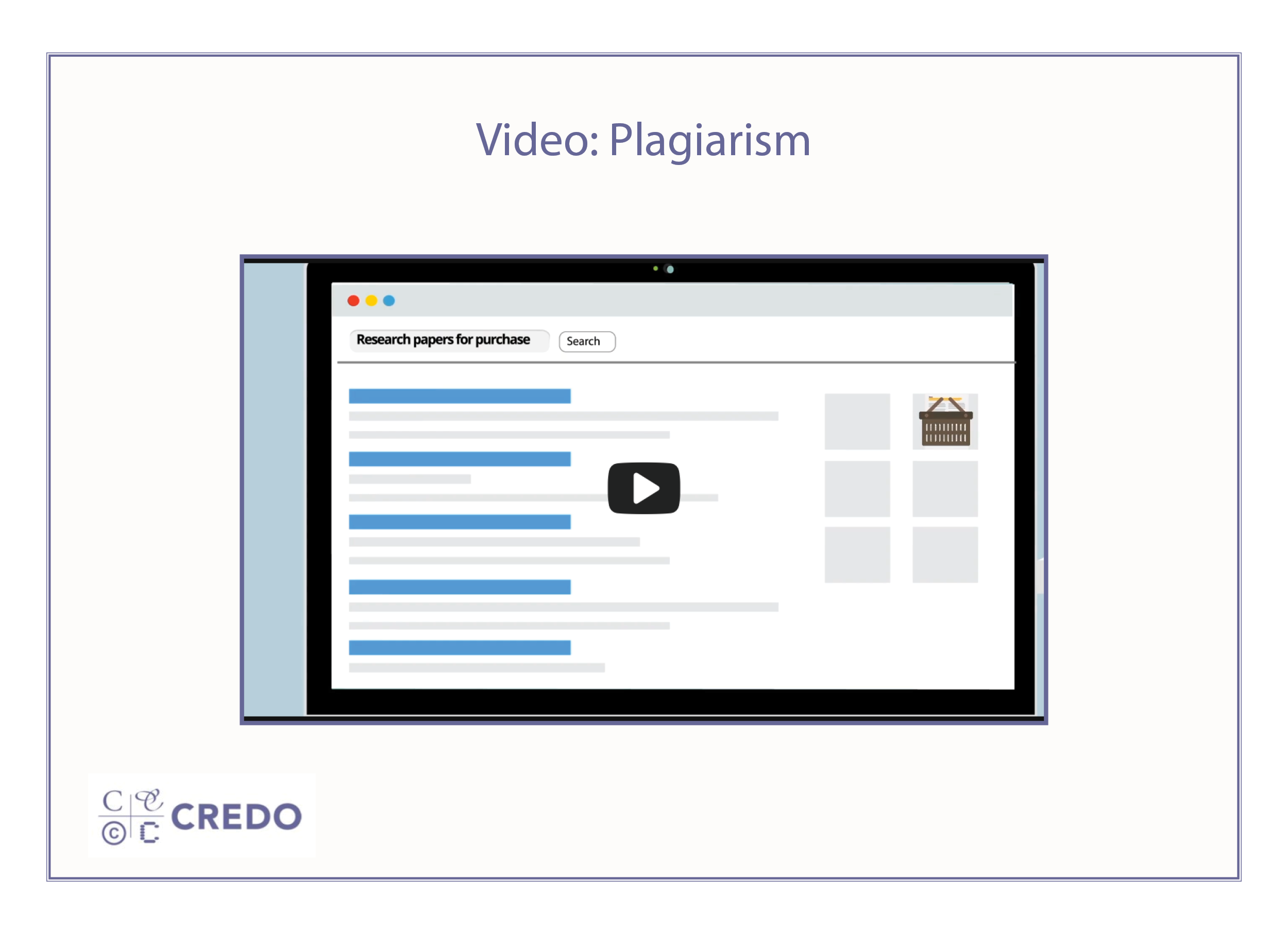 Plagiarism Video