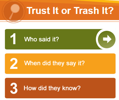 Trust It or Trash It Evaluation Tool Link