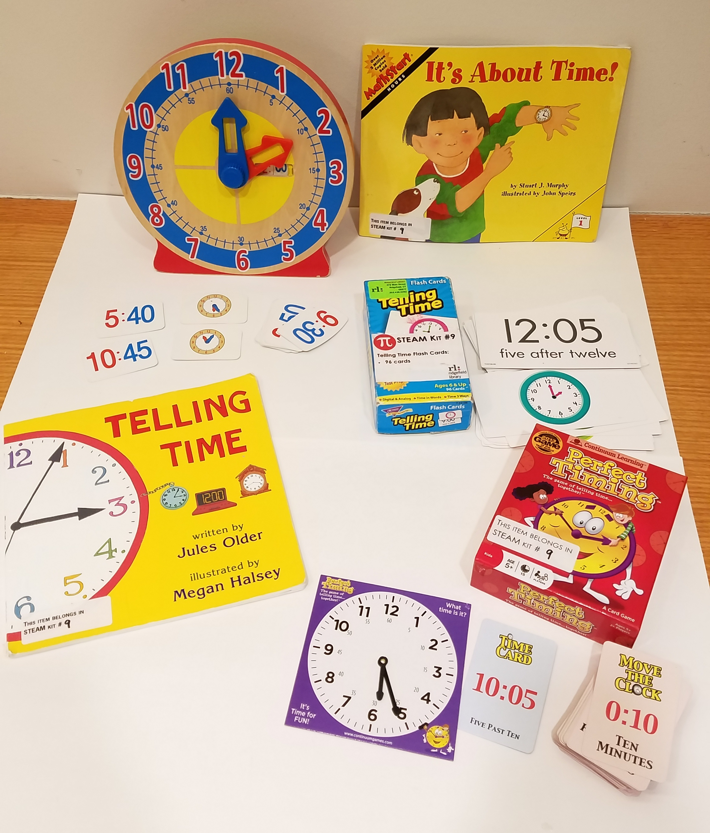 Books about telling time and clocks to practice telling time