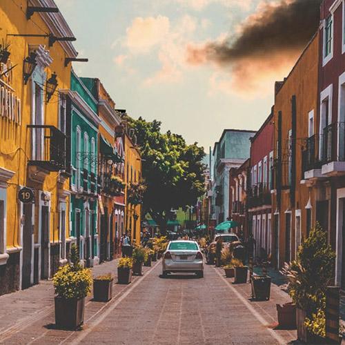 A street in Puebla, Mexico