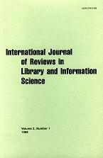 International Journal of Reviews in Library and Information Science, 1986