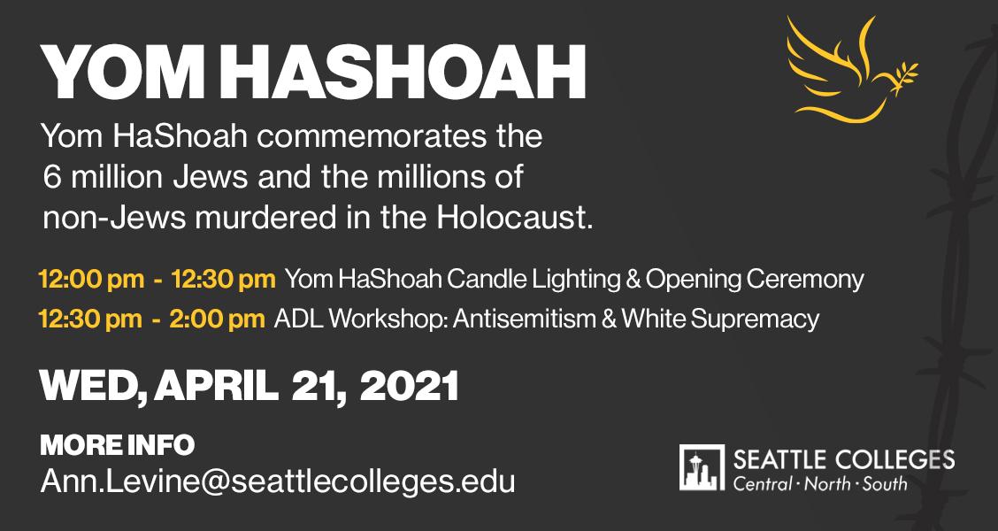 Yom HaShoah April 21st Event