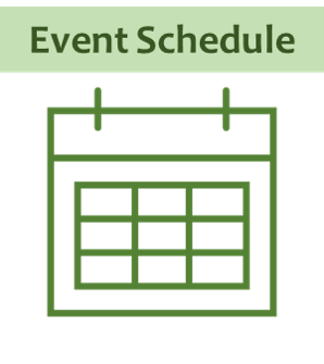 event schedule text above calendar outline