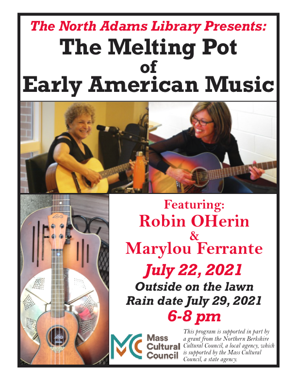 Melting pot of early american music July 22 at 6pm