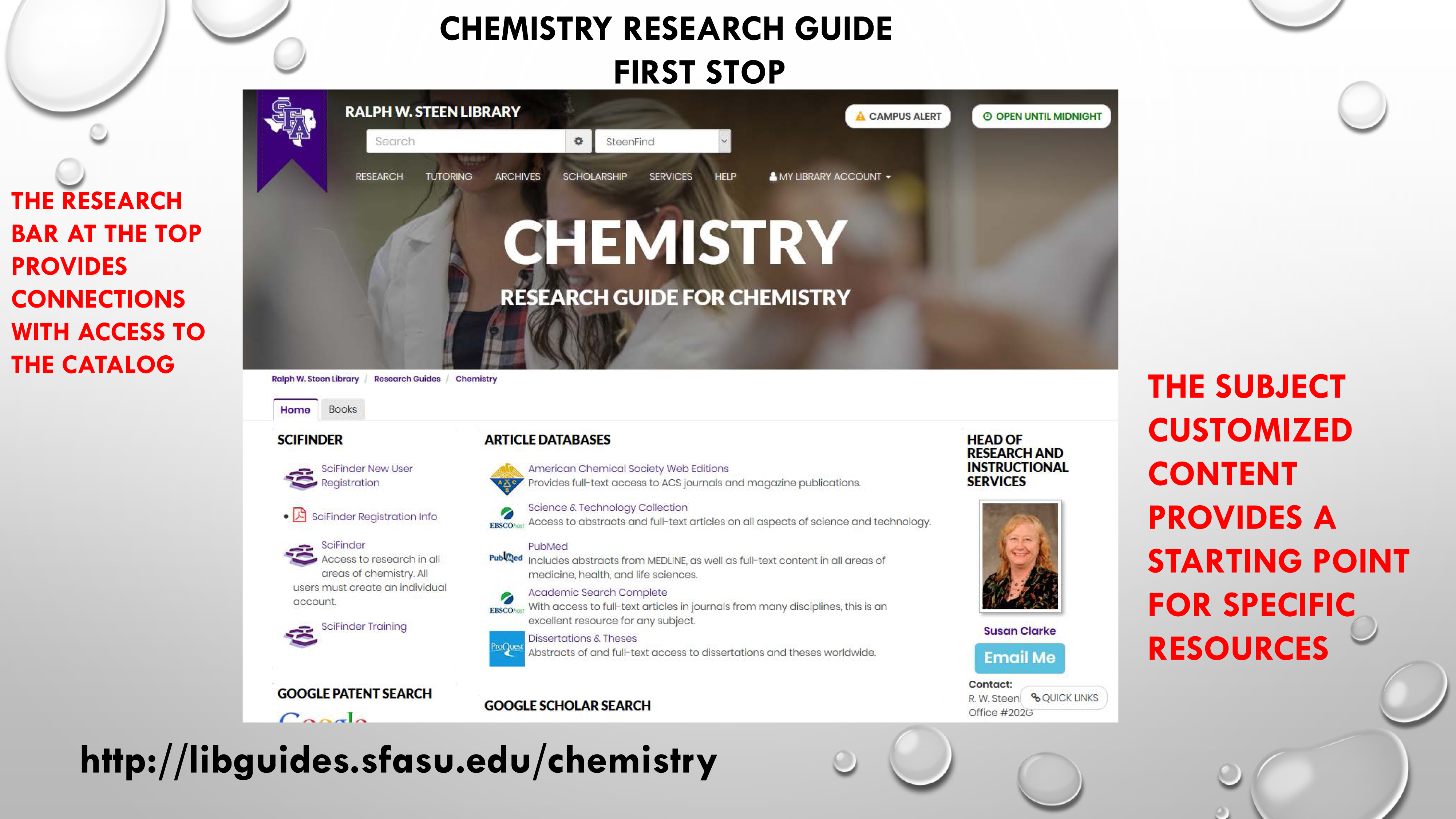 Chemistry Research Guide - First Stop