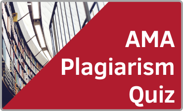 AMA Plagiarism Quiz Tutorial
