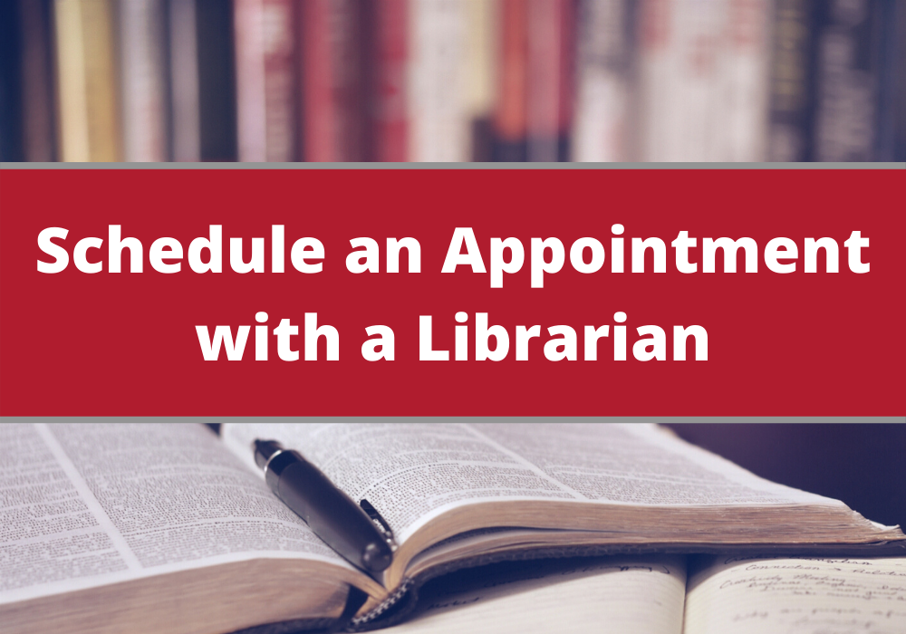 Schedule an Appointment with a Librarian