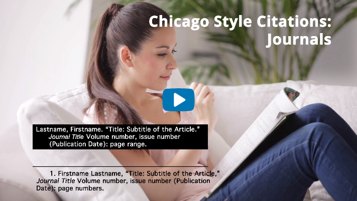 Chicago Style 17th ed. Journals Video Tutorial
