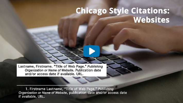 Chicago Style 17th ed. Websites and Social Media Video Tutorial