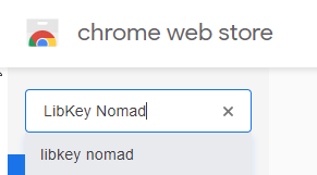 Search for LibKey Nomad in Chrome Web Store