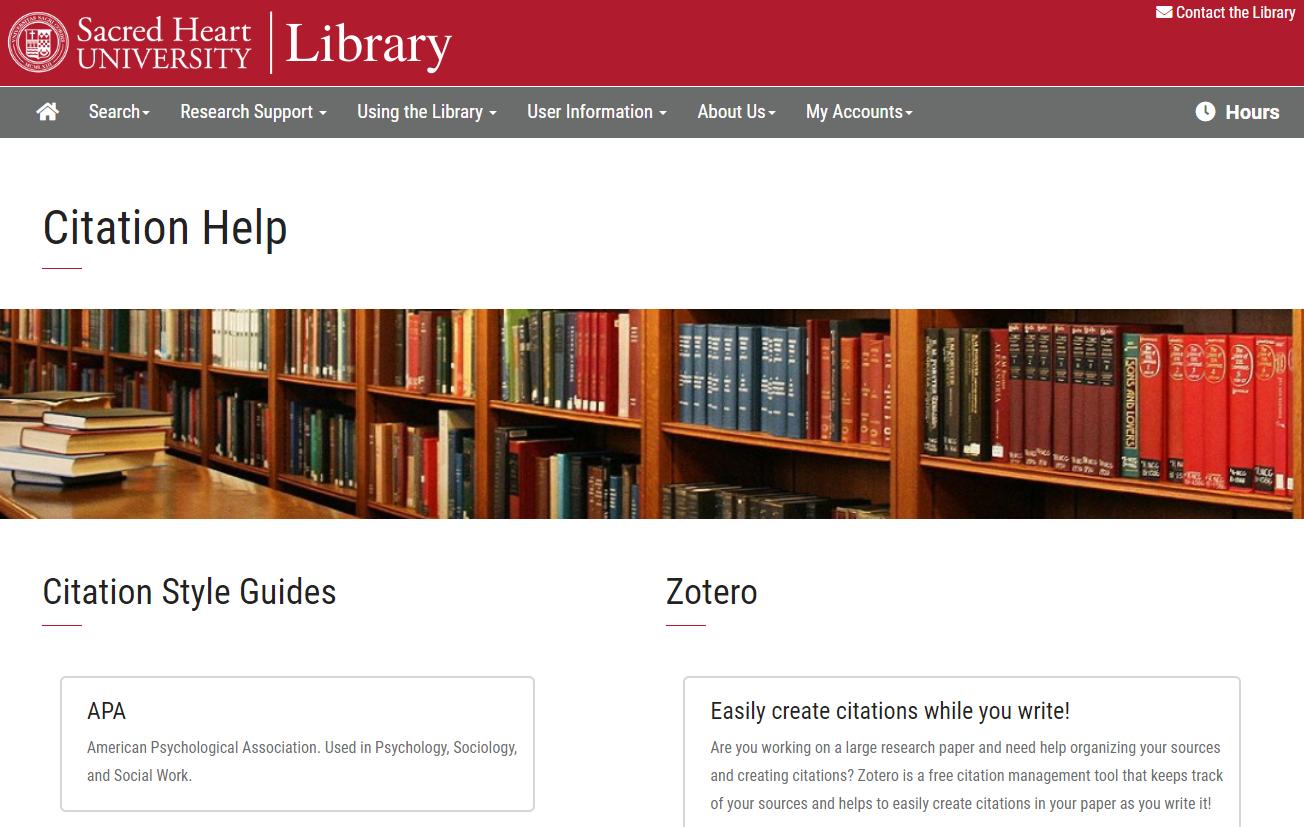 Citation Help Page