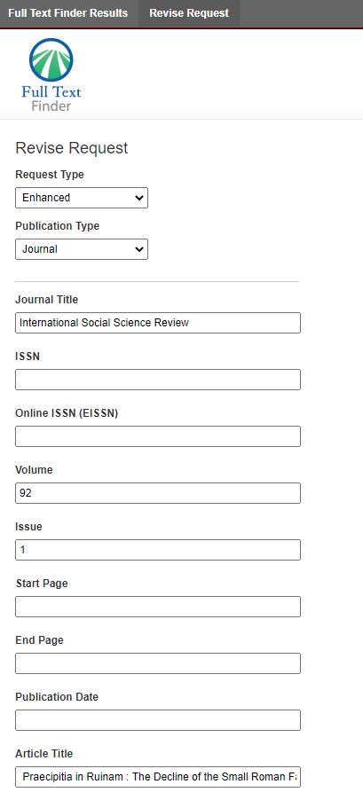 Citation Linker Form