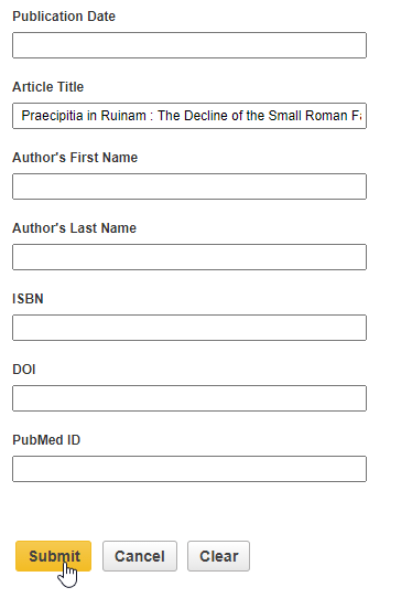 Citation Linker Submit button