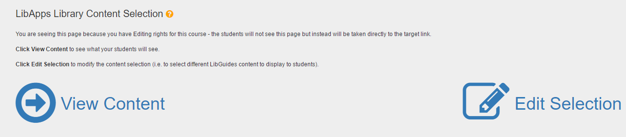 Faculty View of Content Box in Blackboard