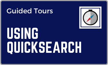 Using QuickSearch Guided Tour