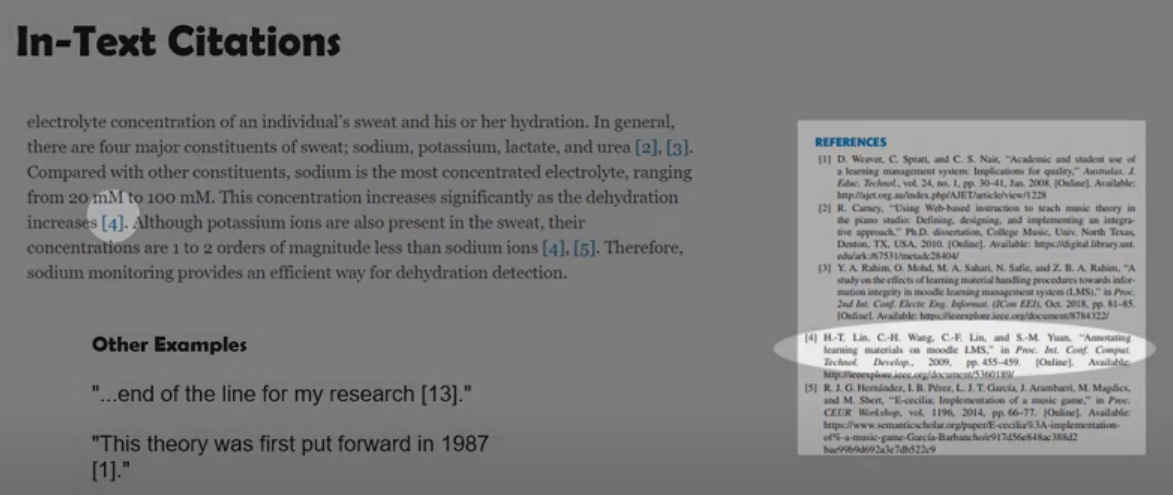 IEEE In Text Citations Example