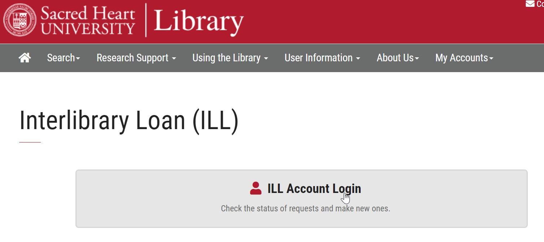 Interlibrary Loan (ILL) Account Button