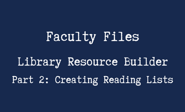Library Resource Builder Part 2 Video Tutorial