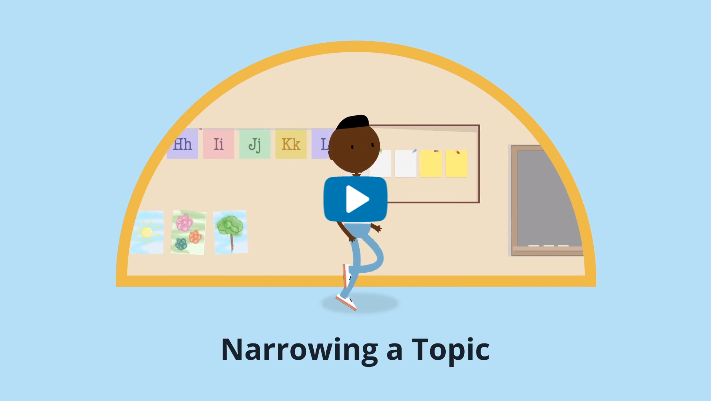 How to Narow Your Topic Video