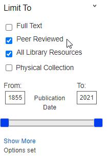 Peer Reviewed Limiter option