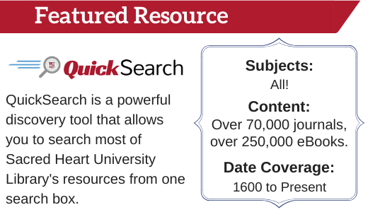 QuickSearch Featured Resource