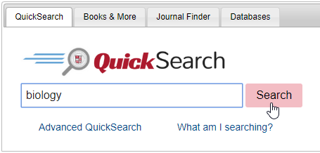 QuickSearch search