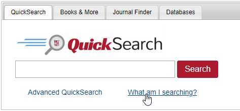 QuickSearch box