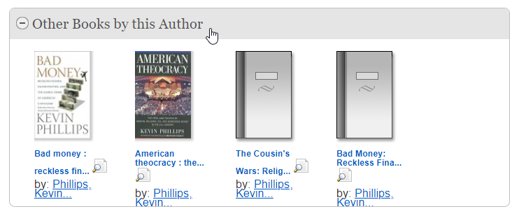 QuickSearch Other Books by this Author results