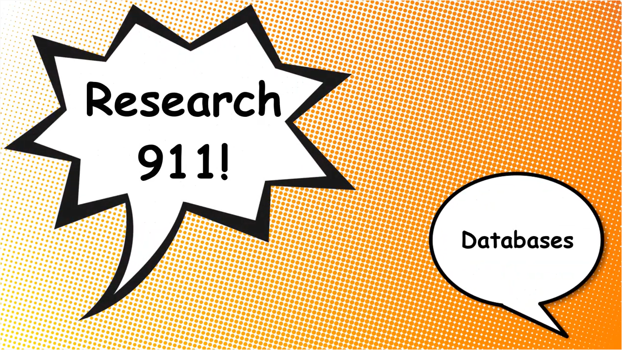 Research 911: Finding Databases Video Tutorial