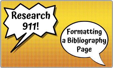 Research 911: Formatting a Bibliography Page Video Tutorial