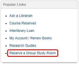 Reserve a Study Room link