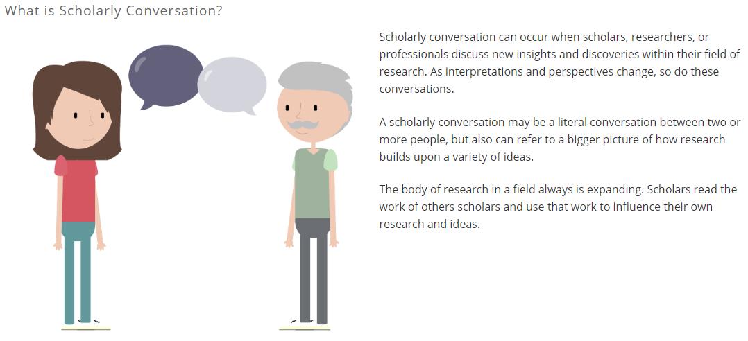 Scholarship as Conversation Tutorial